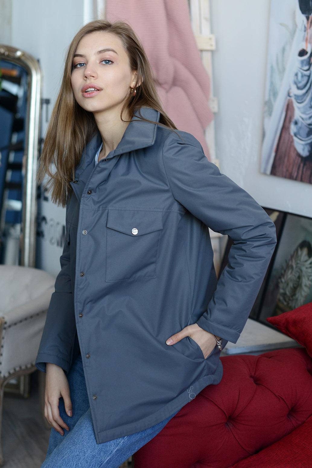 Куртка деми 13675 антрацит
