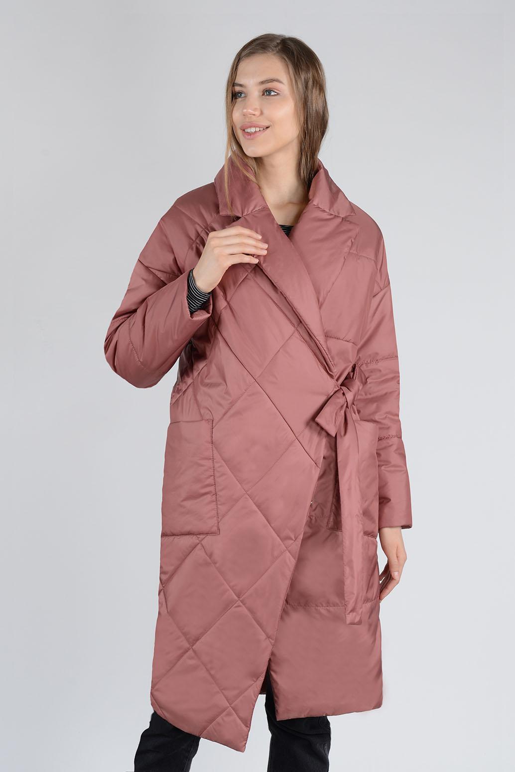 Пальто деми 13673 марсала