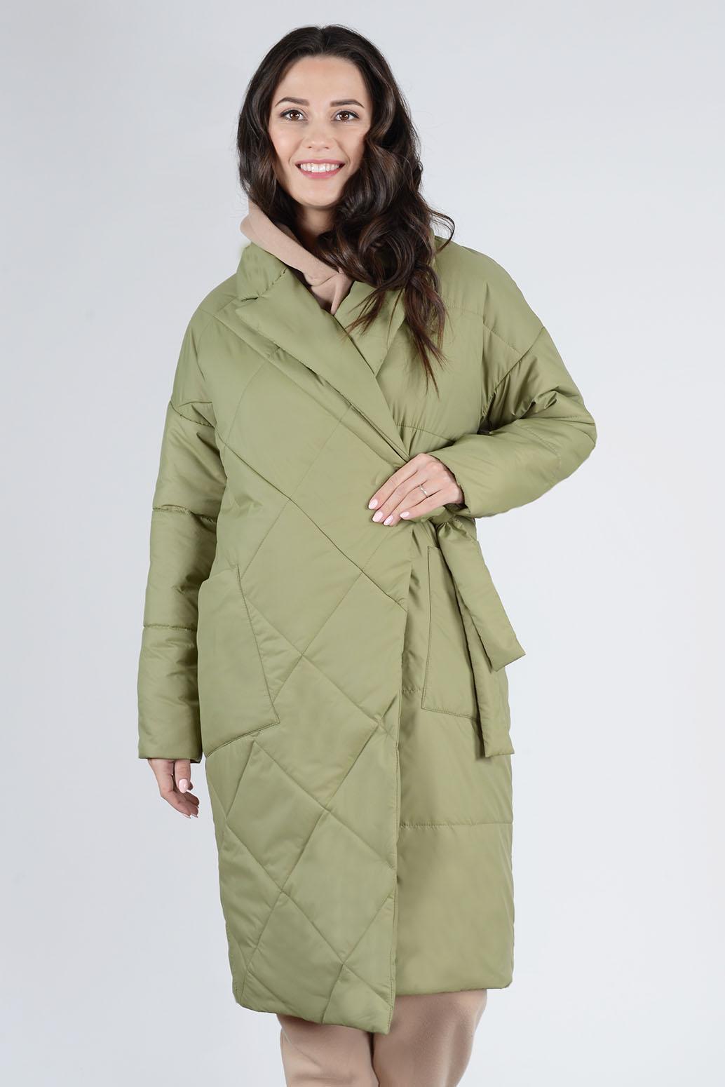 Пальто деми 13673 оливковый