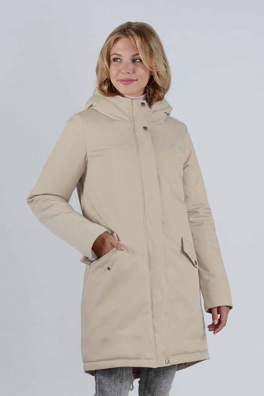 пальто зимнее 99640 беж