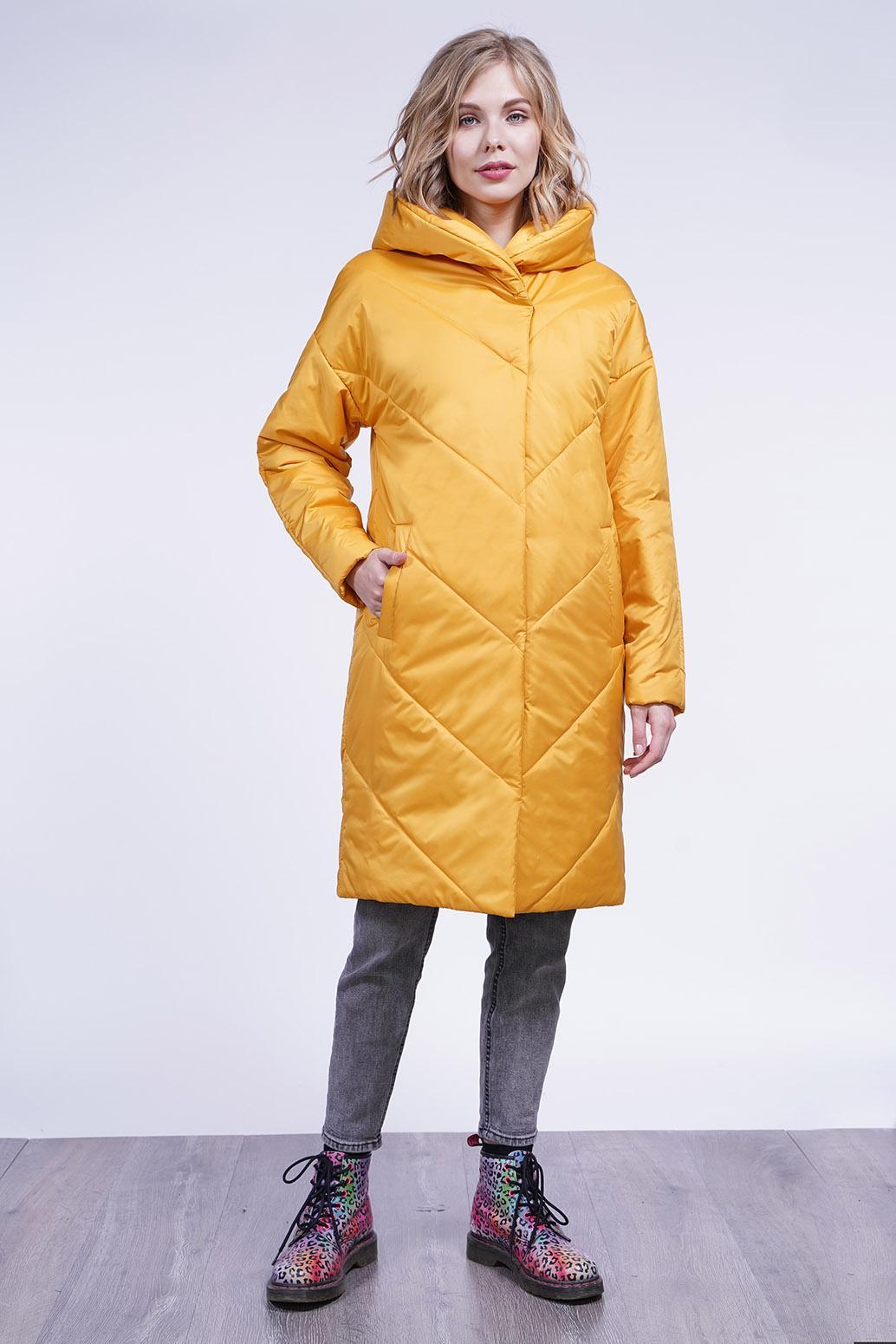 Пальто деми 13700 охра